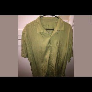 Tommy Bahama 100% Silk Button Down Shirt
